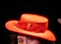 Woman's red hat
