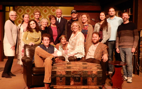 The cast and crew of Deathtrap